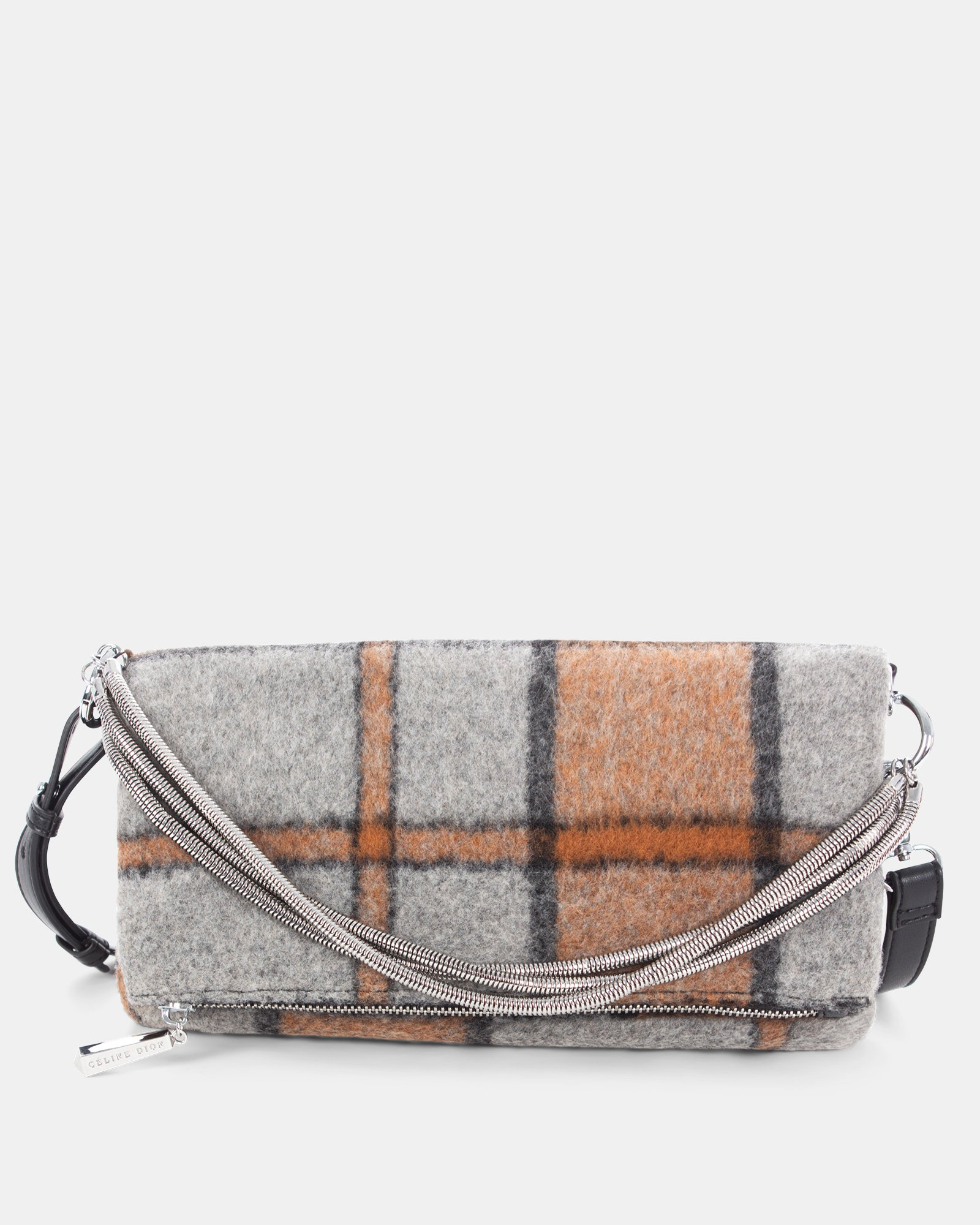 Prelude - clutch with Central zippered section - Rust - Céline Dion - Zoom