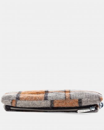 Prelude - clutch with Central zippered section - Rust - Céline Dion