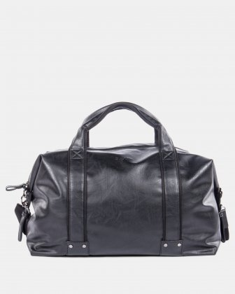 VALENTINO - Duffle bag in vegan leather - Black Bugatti