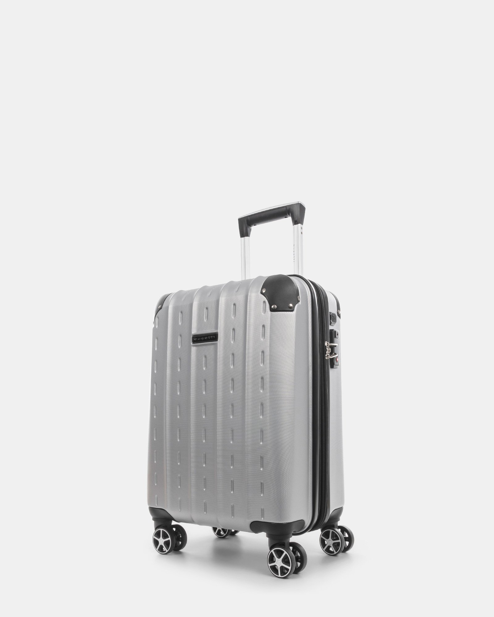 NEW YORK - Lightweight Hardside Carry-on with Integrated USB port - Silver - Bugatti - Zoom