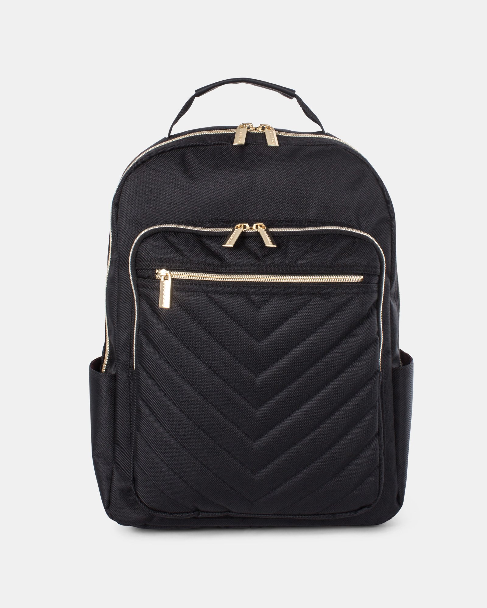 Pure - Ladies BACKPACK for 15.6 po Laptop with Front zippered pocket with organizer - BLACK - Bugatti - Zoom