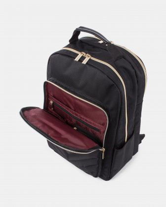 Pure - Ladies BACKPACK for 15.6 po Laptop with Front zippered pocket with organizer - BLACK - Bugatti