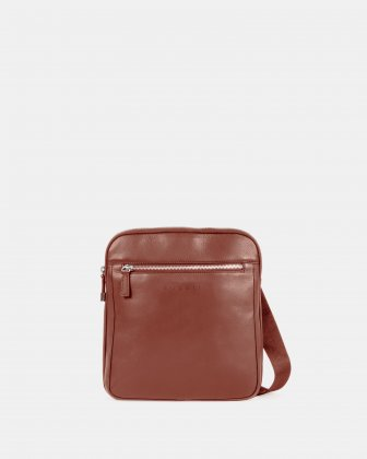 SARTORIA - CROSSBODY for tablet with Adjustable and comfortable strap - Cognac Bugatti