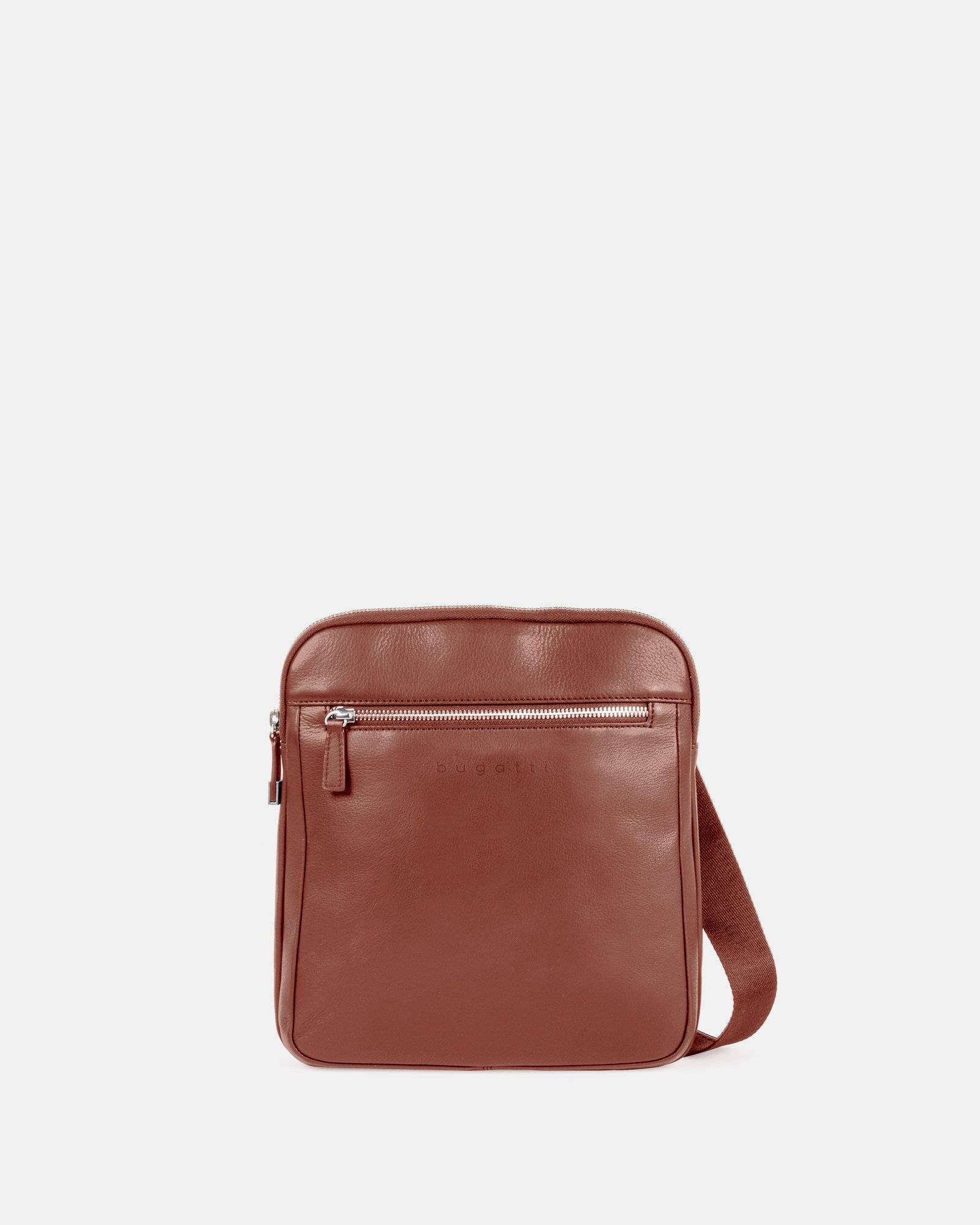 SARTORIA - CROSSBODY for tablet with Adjustable and comfortable strap - Cognac - Bugatti - Zoom