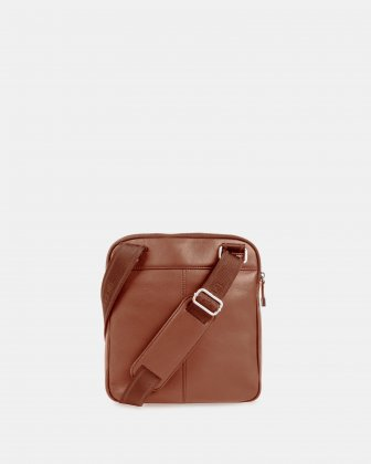 SARTORIA - CROSSBODY for tablet with Adjustable and comfortable strap - Cognac - Bugatti