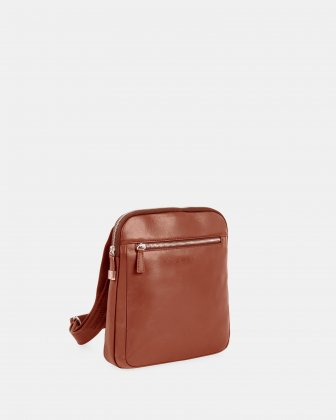 SARTORIA II - CROSSBODY for tablet with Adjustable and comfortable strap - Cognac Bugatti