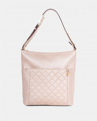 Fastoso - hobo with Front zippered pocket - Rosegold Céline Dion