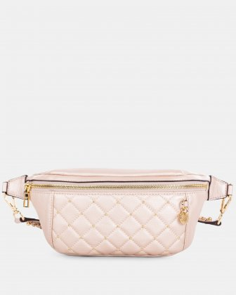 Fastoso - Moneybelt with Front zippered pocket - Rosegold Céline Dion