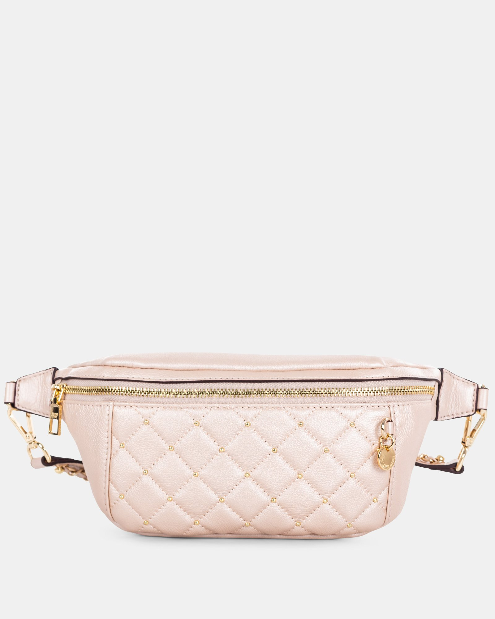 Fastoso - Moneybelt with Front zippered pocket - Rosegold - Céline Dion - Zoom
