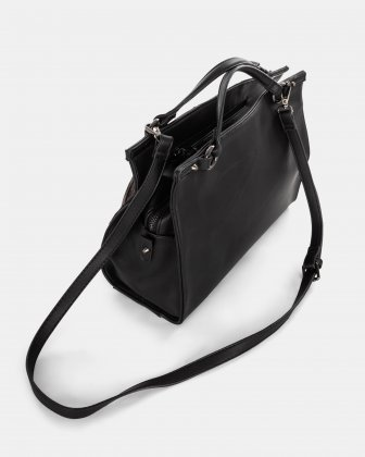 Haute Coco - Satchel with Main zippered compartment - Black multi - Joanel