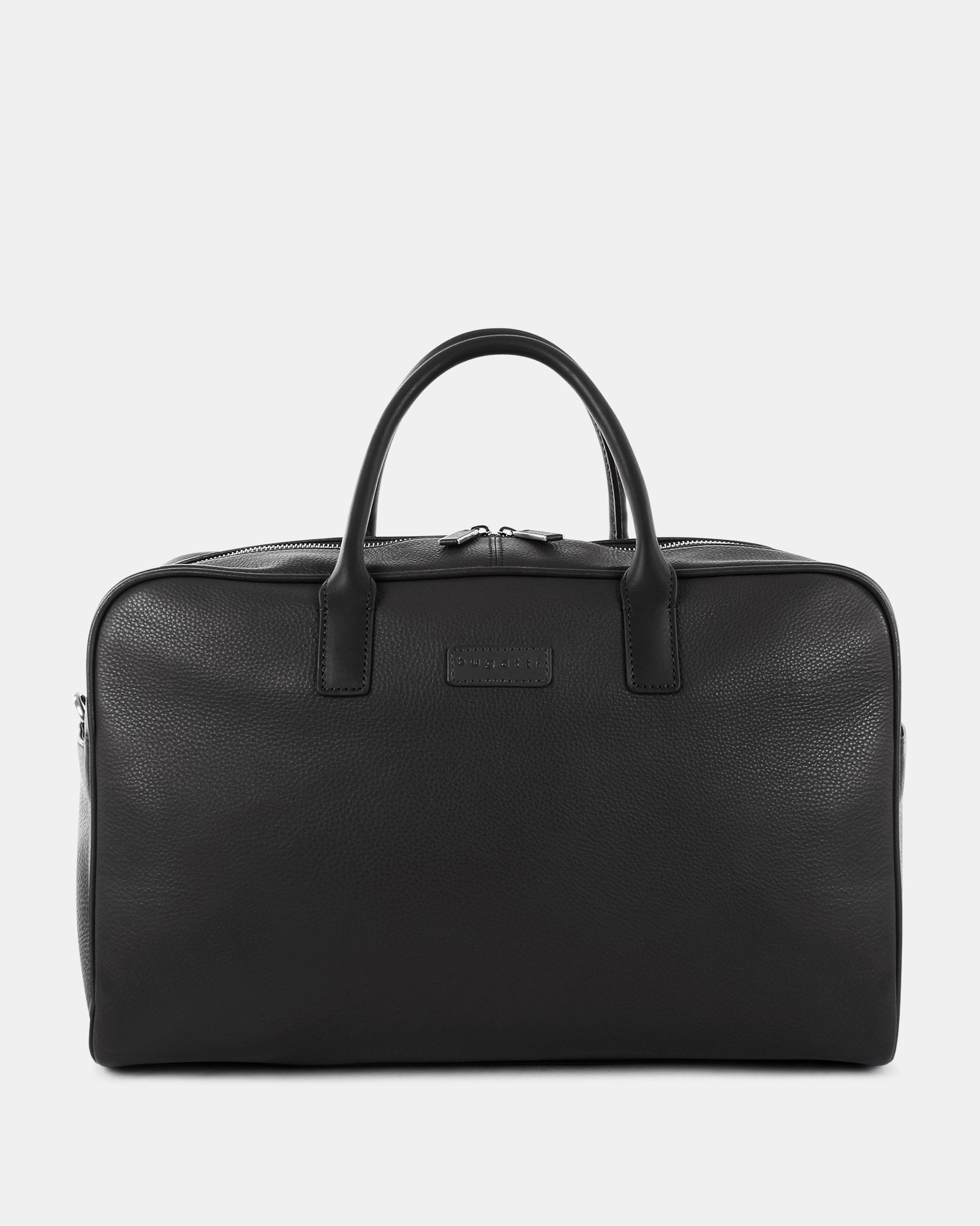 """HORIZON - Leather Duffle Bag with 14"""" laptop compartment - Black - Bugatti - Zoom"""
