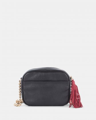 Harmonic - Rectangle crossbody in Soft leather with embroidery - Black  - Céline Dion