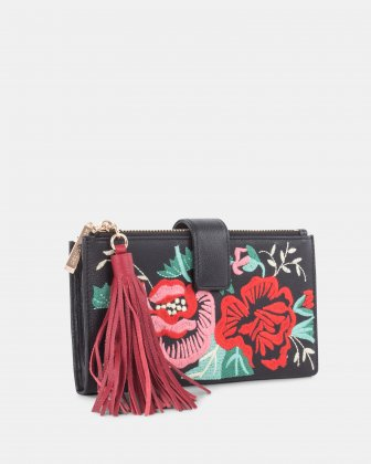 Harmonic - Soft leather with embroidery Wallet - Black - Céline Dion