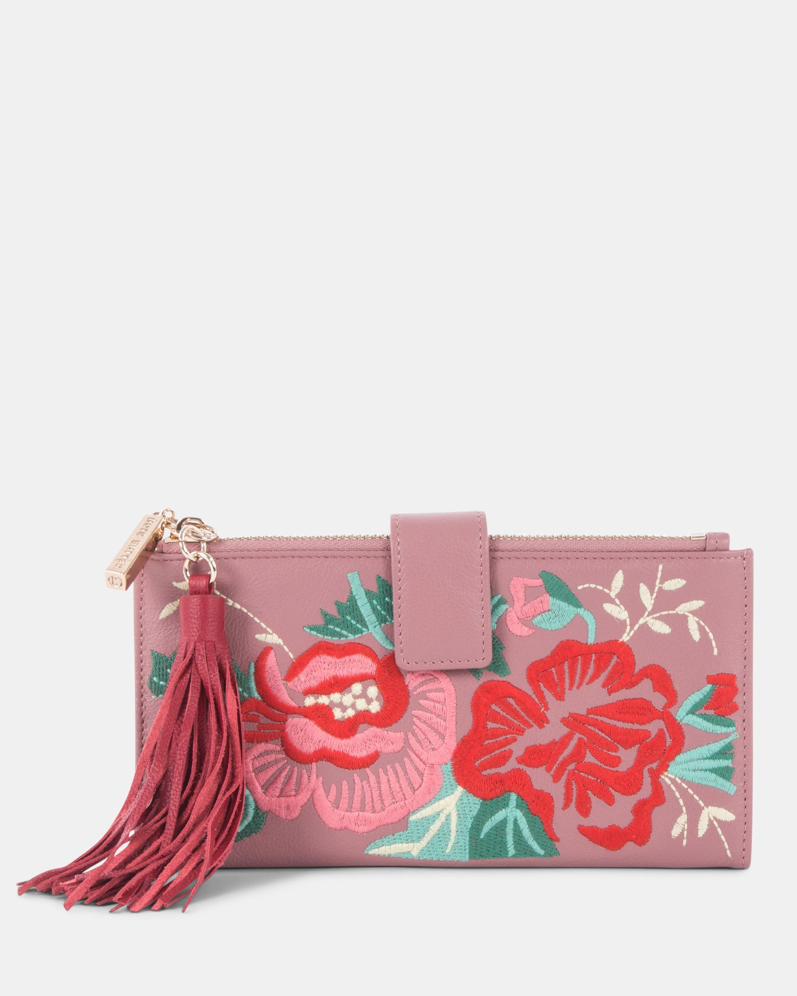 Harmonic - Soft leather with embroidery Wallet - Pink - Céline Dion - Zoom