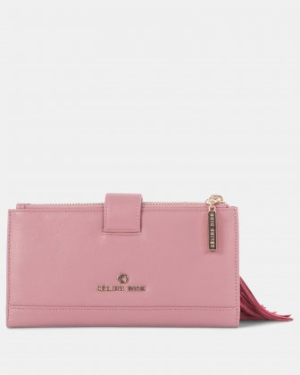 Harmonic - Soft leather with embroidery Wallet - Pink - Céline Dion