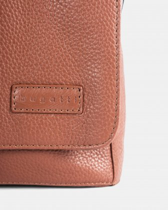 """HORIZON - MESSENGER BAG with Padded laptop section for 14"""" - Cognac Bugatti"""