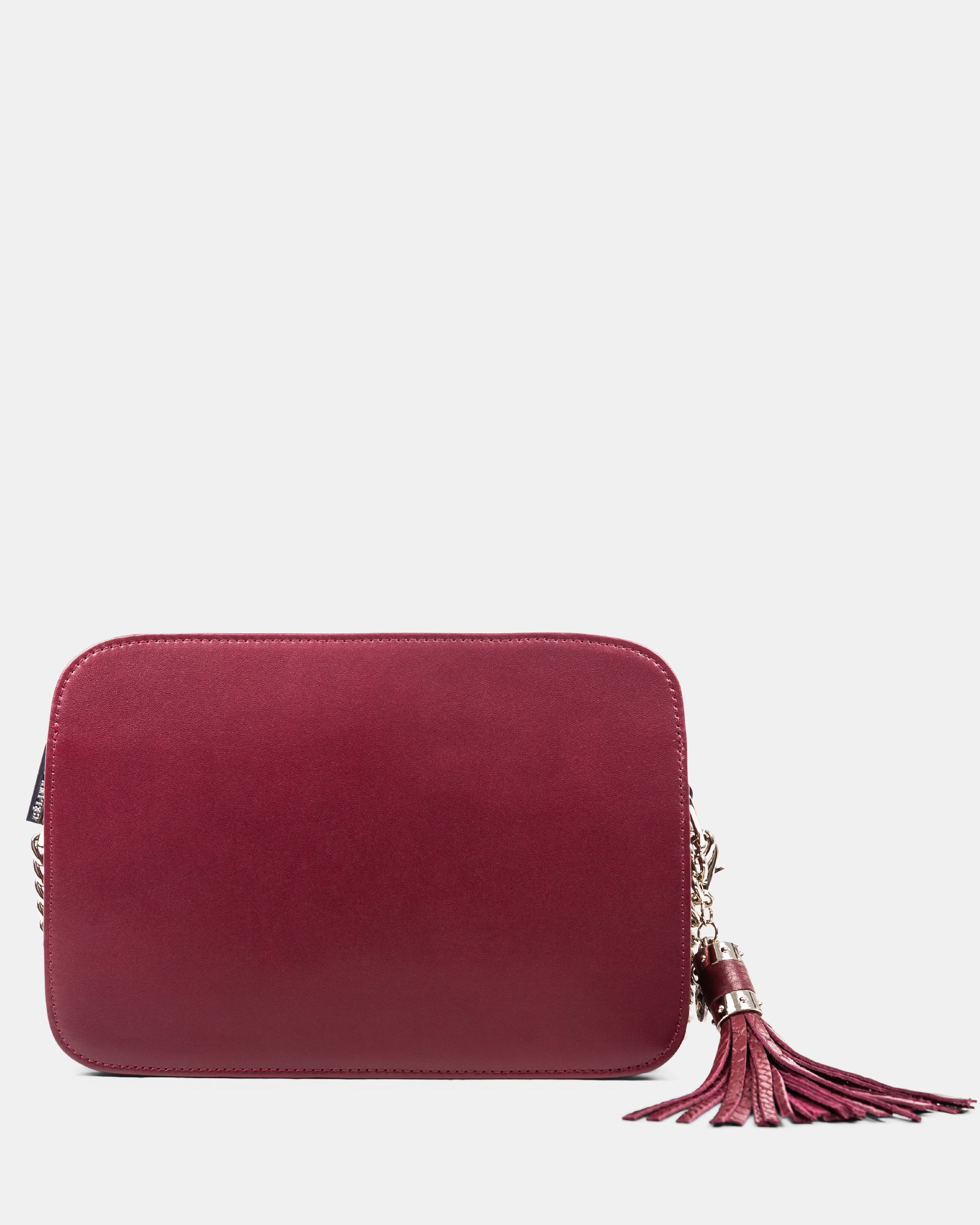 Elegy - Leather crossbody with Side pockets with magnetic closure - wine/red - Céline Dion - Zoom