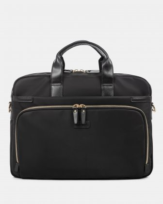 "Pure - SLIM LADIES BRIEFCASE with Padded laptop section for 15.6"" - Black  Bugatti"