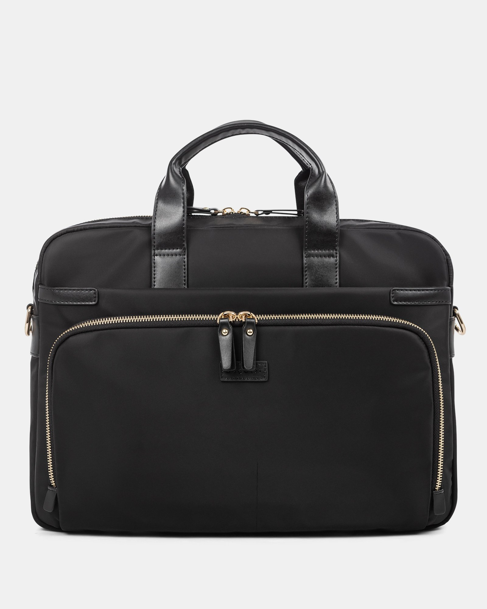 """Pure - SLIM LADIES BRIEFCASE with Padded laptop section for 15.6"""" - Black  - Bugatti - Zoom"""