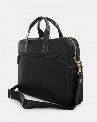 """Pure - SLIM LADIES BRIEFCASE with Padded laptop section for 15.6"""" - Black  - Bugatti"""