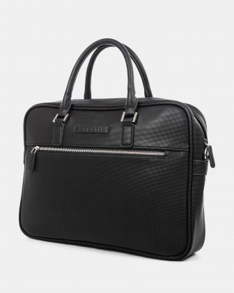 "Pure - LADIES EXECUTIVE BRIEFCASE with Padded laptop section for 15.6"" - Black  Bugatti"