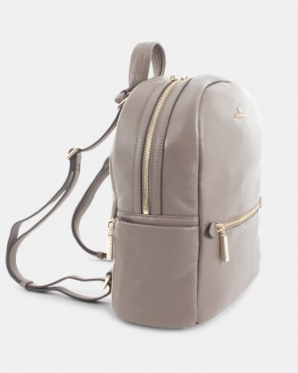 ADAGIO - LEATHER BACKPACK can be converted into a crossbody strap - TAUPE Céline Dion