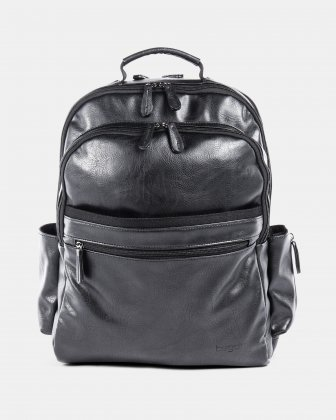 VALENTINO - BACKPACK FOR 15.6 IN LAPTOP AND RFID PROTECTION - BLACK Bugatti