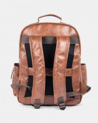 VALENTINO - BACKPACK FOR 15.6 IN LAPTOP AND RFID PROTECTION - COGNAC - Bugatti