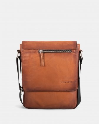 DOMUS 2.0 - LEATHER CROSSBODY BAG FOR TABLET - COGNAC Bugatti