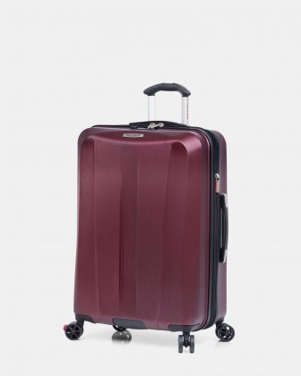 SAN CLEMENTE - 25-Inch Expandable Spinner Luggage with TSA-approved combination lock - Burgundy Ricardo