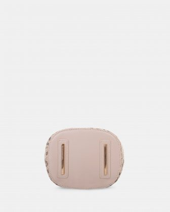 Piacevole - Handle bag (small) Straw & leather-like trim - Natural Céline Dion