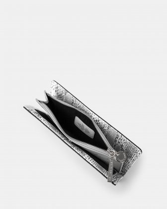 Duo - Wallet with zipper compartment - black/snake - Céline Dion
