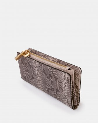 Duo - Wallet with zipper compartment - blush/snake - Céline Dion