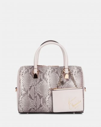 Duo - Satchel bowler bag leather-like - Blush/snake Céline Dion