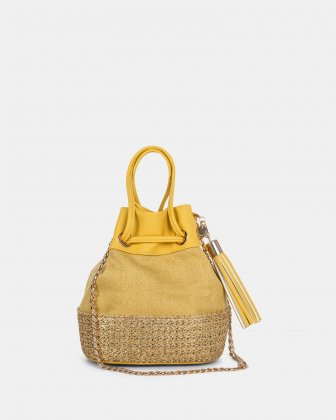 CARITA Pleated leather-like shoulder bag Céline Dion