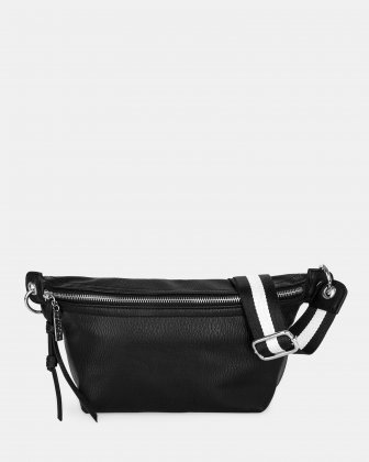 FANNY - Money belt with Main zippered compartment - Black Joanel