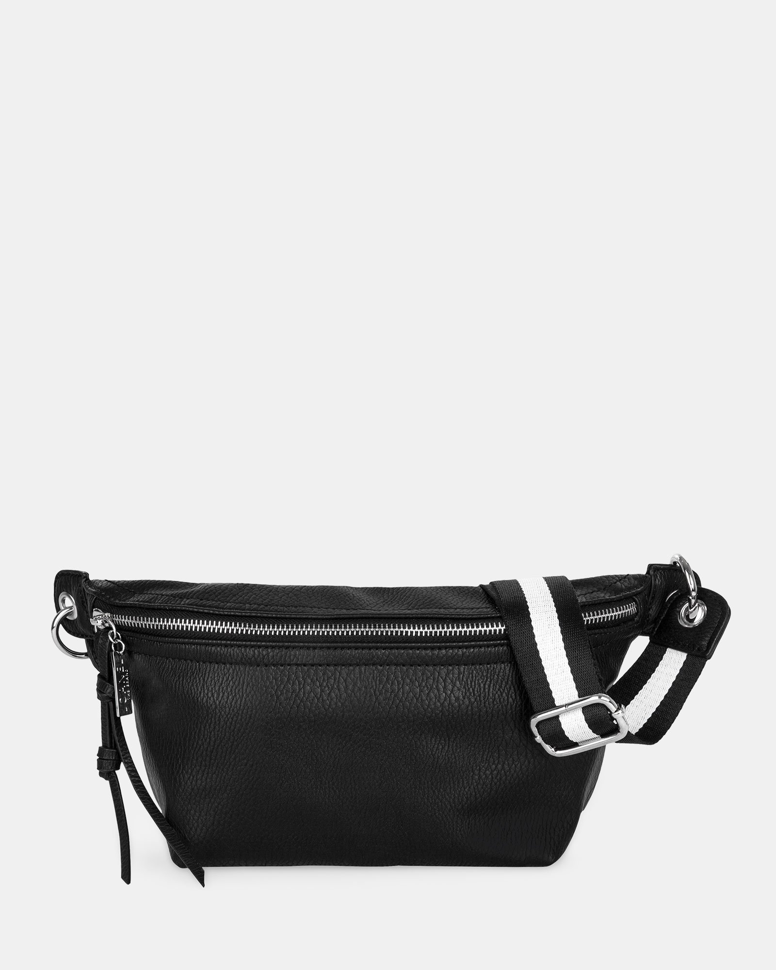 FANNY - Money belt with Main zippered compartment - Black - Joanel - Zoom