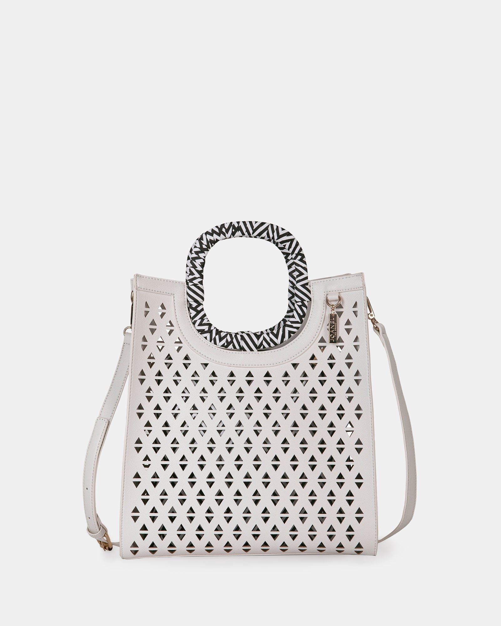 HOLLIE - Handle bag in Vegan Leather - WHITE - Joanel - Zoom