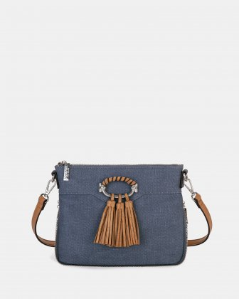 POWWOW - Crossbody with Adjustable shoulder strap - Denim Joanel