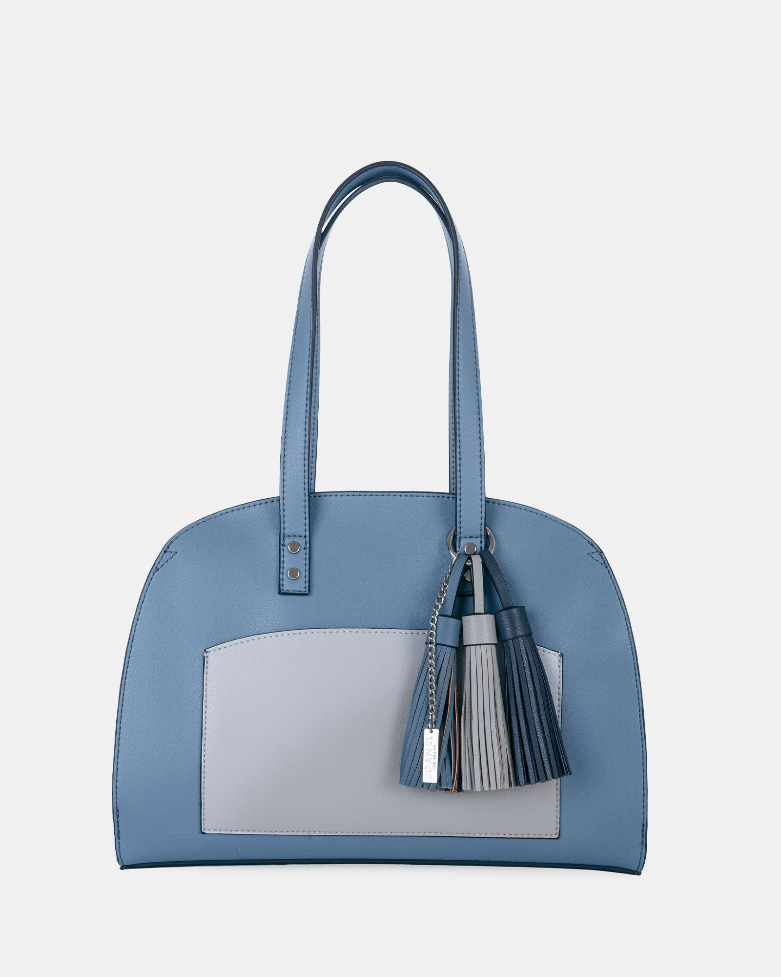 XOXO - Tote bag with Main zippered compartment - Blue combo - Joanel - Zoom