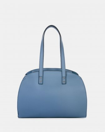 XOXO - Tote bag with Main zippered compartment - Blue combo - Joanel