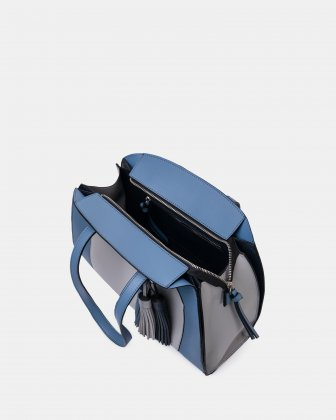 XOXO - Tote bag with Main zippered compartment - Blue combo Joanel