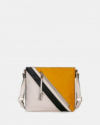 ZAZOU - Crossdody bag with Main zippered compartment - Off white combo  Joanel