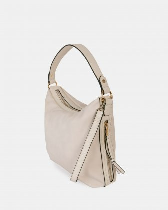 ZAZOU - Hobo bag with Zippered main compartment - offwhite Joanel