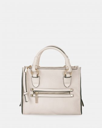 ZAZOU - Satchel bag with Main zippered compartment - Offwhite Joanel