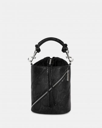 Vivo - Hobo bag Leather-like & Canvas with Adjustable and detachable crossbody strap - Black Céline Dion