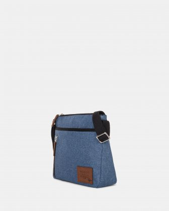 Mouflon - Wander Crossbody with zipper closure - Indigo Blue Mouflon