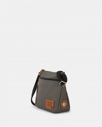 Mouflon - Wander Crossbody with zipper closure - khaki Mouflon