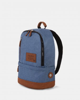 Wander - Backpack with large zipper opening - Indigo Blue Mouflon