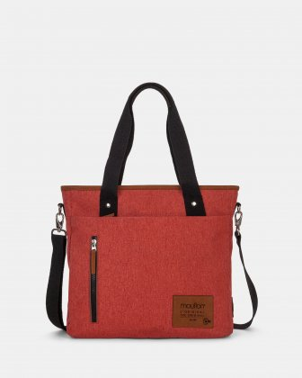 Mouflon - Wander Tote Bag with top zipper closure - Sienna Mouflon